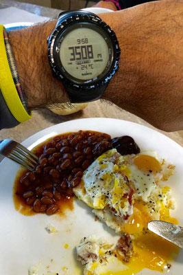 Frühstück auf 3508m im Rocky Mountain NP