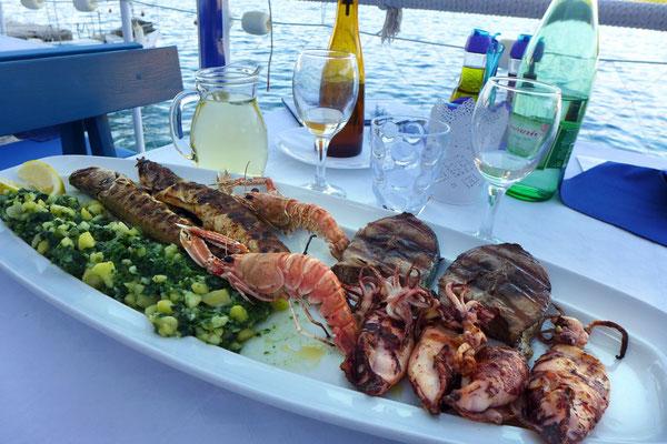Fischessen auf Cres im Mamalu in Valun