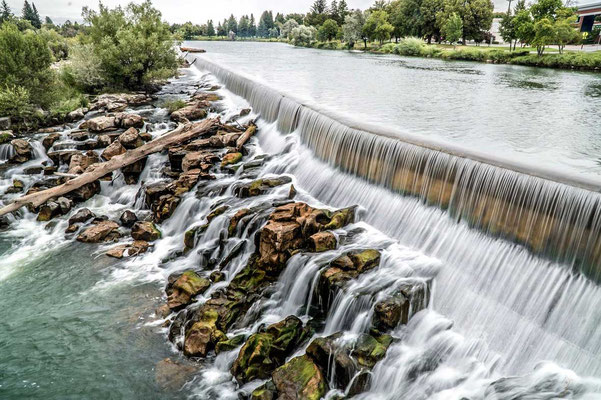 Snake River in der Stadt Idaho Falls