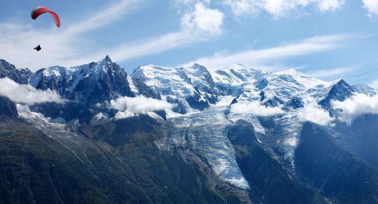 Paraglider am Momt Blanc, Chamonix