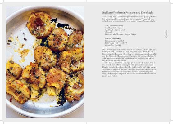 Backkartoffelsalat mit Rosmarin & Knoblauch. Kochbuch Nigel Slater Tender