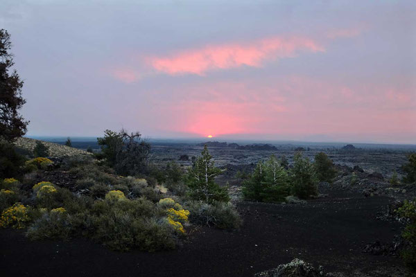 Craters of the Moon zum Sonnenaufgang