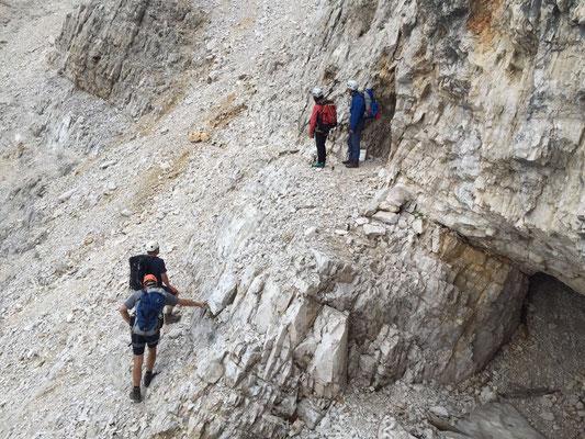 Wo geht's weiter? Klettersteig Alta Via Veronesi
