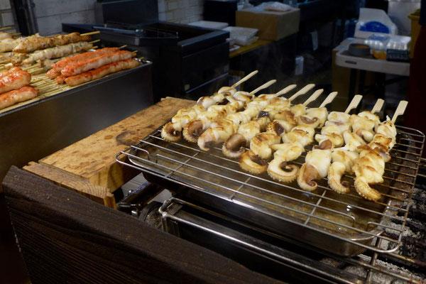Kyoto Tipp. Auf dem Nishiki Markt sich durchsnacken