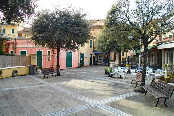 Piazzetta in Tellaro, Ligurien