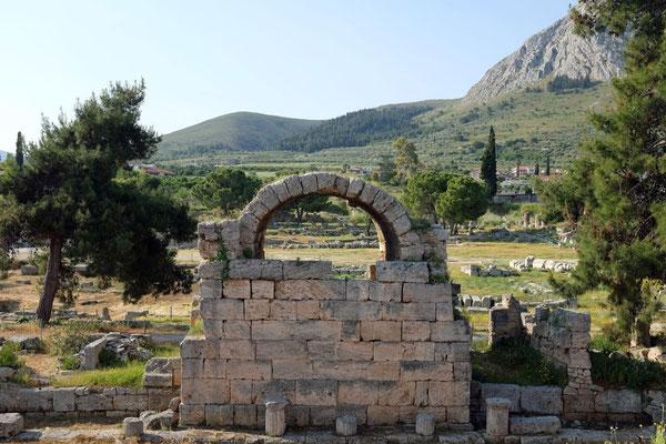 Antikes Korinth auf Peloponnes
