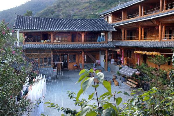 Das beliebte Halfway Guesthouse, Nachlager der meisten Wanderer in der Tigersprungschlucht