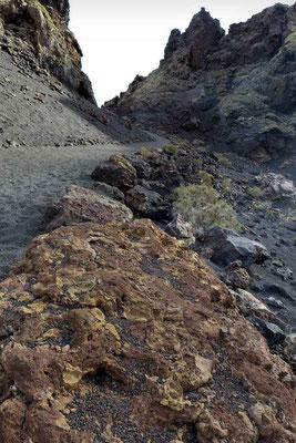 Weg aus der Caldera de los Cuervos Lanzarote