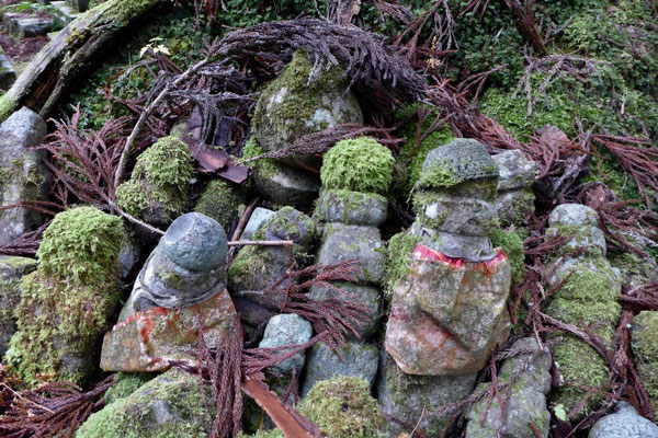Jizo Figuren Koyasan Friedhof Okunoin Japan