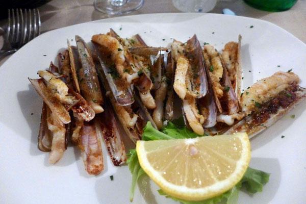 Schwertmuscheln im Restaurant Vini da Gigio Venedig