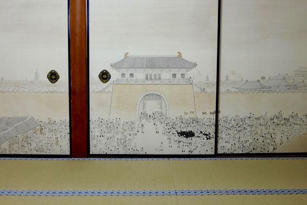 Wandmalerei im Kongōbuji Tempel von Koyasan