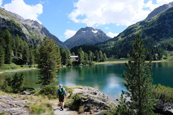 Wanderung am Cavloc See, Oberengadin-Majona
