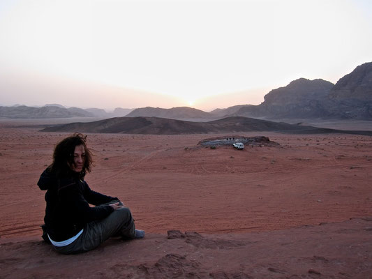 Sundowner Fels im Camp, Wadi Rum Jordanien