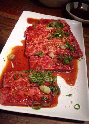Japanisches Wagyu beef, Yakiniku grill restaurant Don Don Osaka
