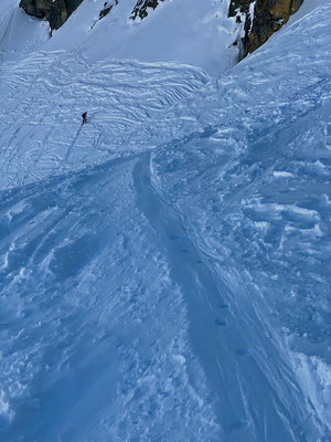 Zweite Steilstufe am Piz Lagrev