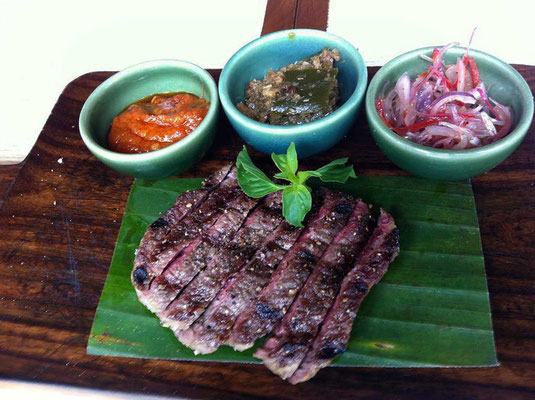 Tolles Steak im Spice by Chris Salans Ubud