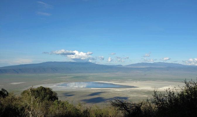 Ausblick vom Simba Campingplatz am Kraterrand des Ngorongoro