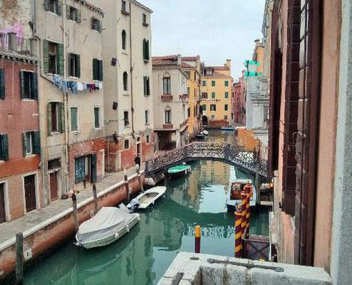 Blick vom Balkon-Zimmer, Hotel Locanda Ca Le Vele, Venedig