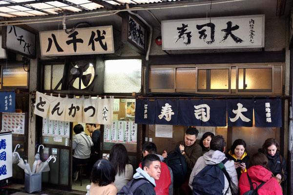 Das berühmte Sushi Dai, Tsukiji Outer Market Tokio