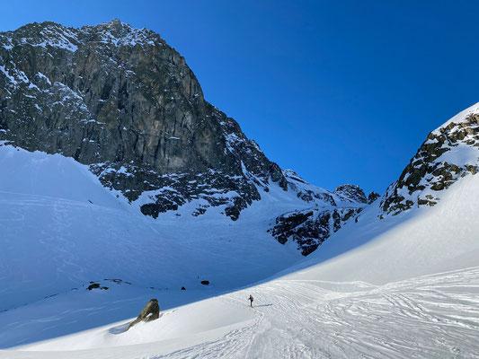 Nach der ersten Steilstufe der weitere Aufstieg am Piz Lagrev