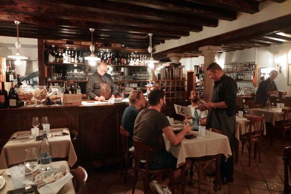 Beliebtes venezianisches Restaurant, Vini da Gigio Venedig