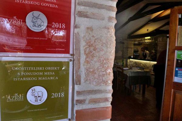 Istrisches Fleisch Prädikat in der Konoba Selo Mekiši