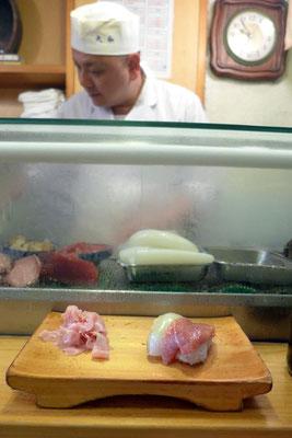 Tokio Tsukiji Fischmarkt bester Sushi Laden Outer Market