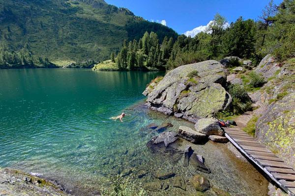 Baden im Cavloc See, Oberengadin-Majona