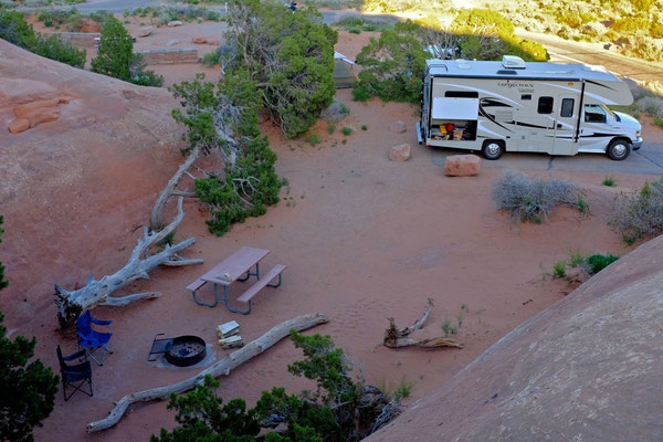Schönster Campground Devils Garden im Arches National Park