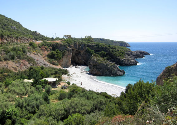 Foneas Beach zwischen Stoupa und Kardamili