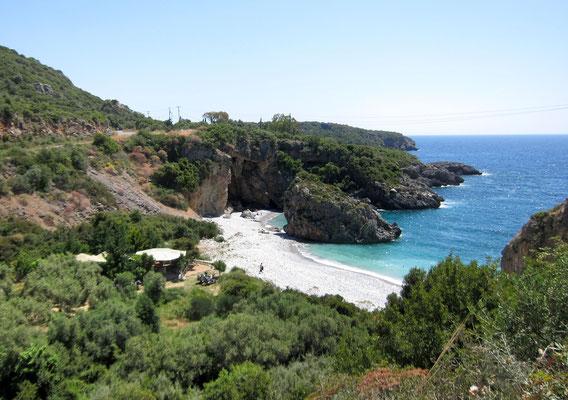 Foneas Beach zwischen Stoupa und Kardamili, Peloponnes