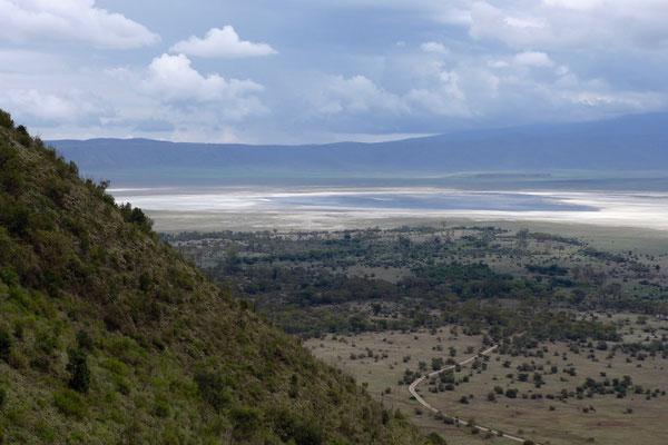 Die Ausfahrt aus dem Ngorongoro Krater erfolgt über einen anderen Weg
