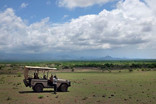 Mit Shumatas Mercedes G auf Safari-Tour