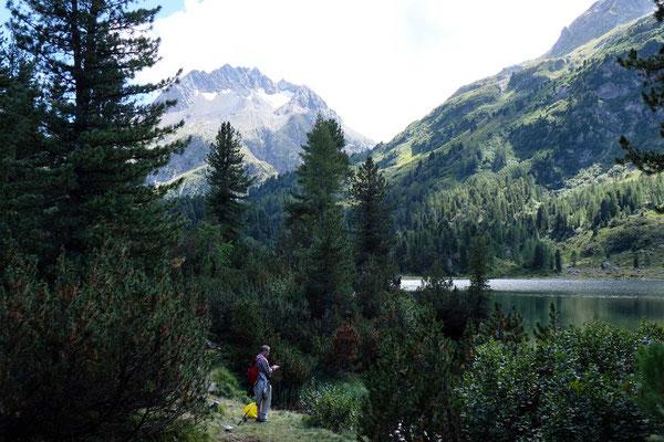 Angler am Cavloc See, Oberengadin-Majona