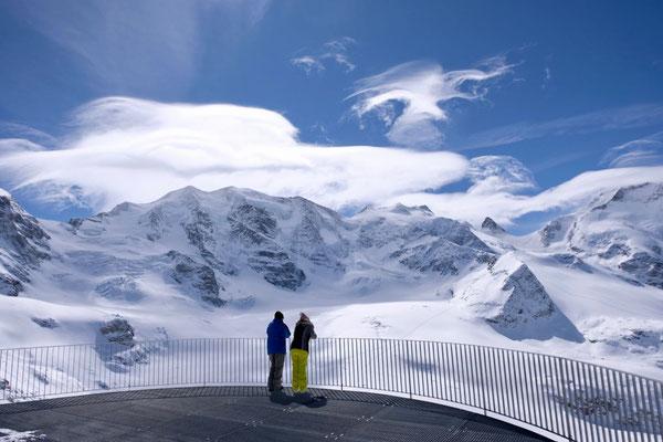 Diavolezza Aussicht Bernina Alpenpanorama