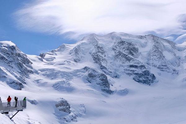 Apektakuläre Aussichten von der Diavolezza Bergstation