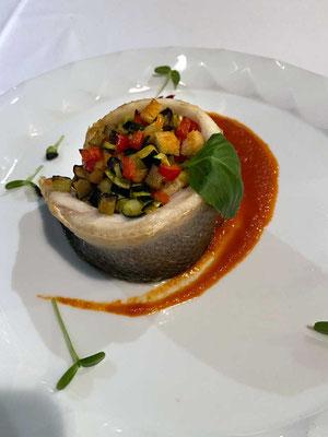 Seebrasse 'Alla Mediterranea', Restaurant Peteani Labin