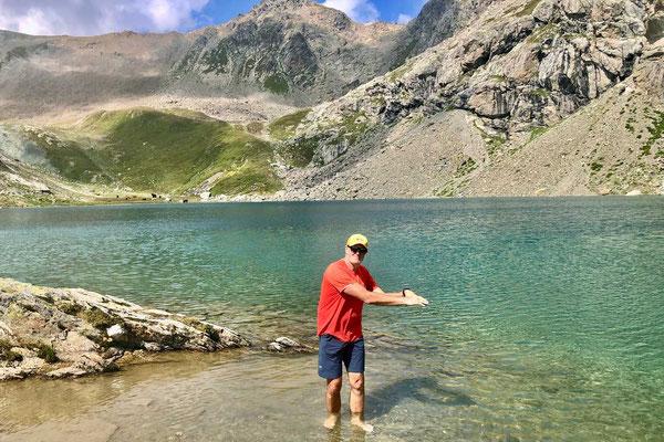 Wanderung zur Inn Quelle Lägh dal Lunghin