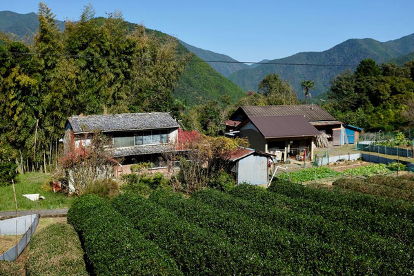 Bergweiler auf der Wanderung Kumano Kodo