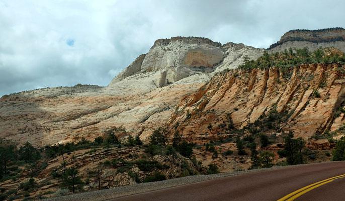 Ost-Anfahrt in den Zion National Park