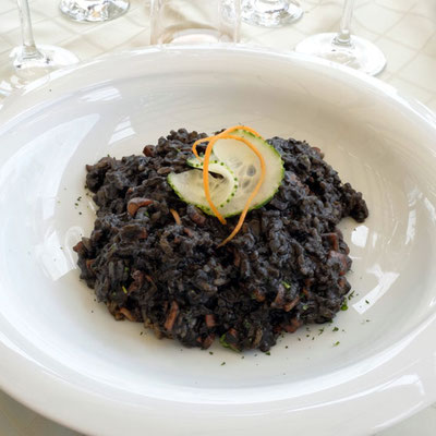 Schwarzes Risotto, RestaurantNa Tale in Pag