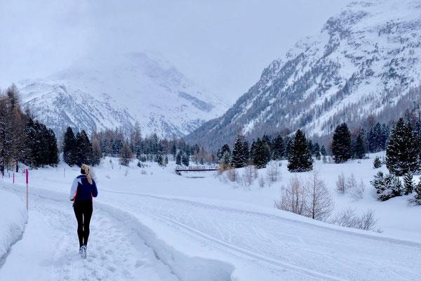 Winterjoggen direkt ab dem Campigplatz