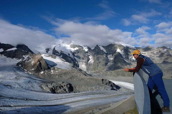 Aussichtsterrasse Diavolezza Bergstation