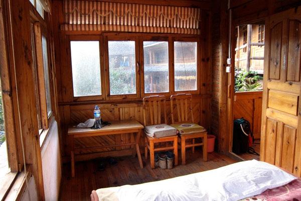Unser Zimmer im Halfway Guesthouse