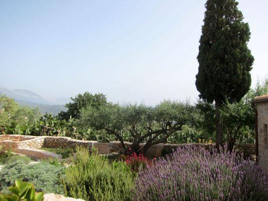 Kräutergarten im Antares Hotel Areopoli, Mani Peloponnes