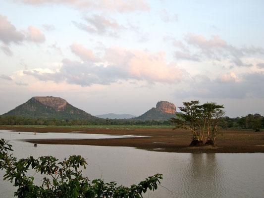 Halmilla Wewa  Sigiriya Rock Sri Lanka