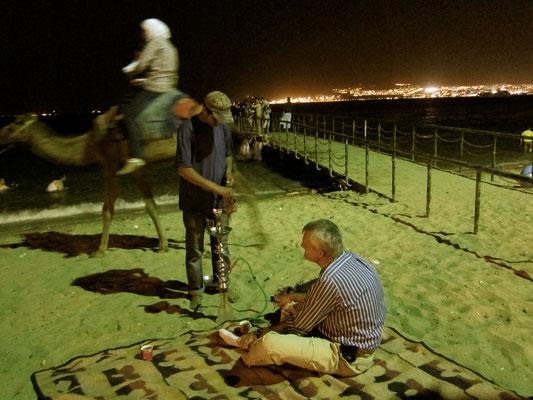 Abends am Stadtstrand Aqaba Jordanien