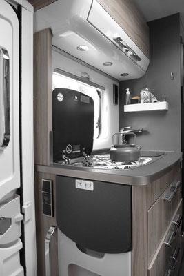 Kochbereich im Hymer ML-I 570