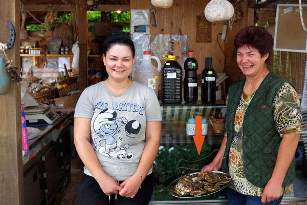 Austernhütte der Familie Bebek in Mali Ston