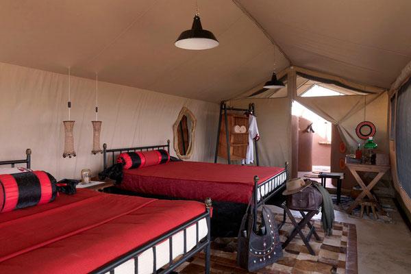 Höchst komfortabel, die Zeltcamps von Shu'mata